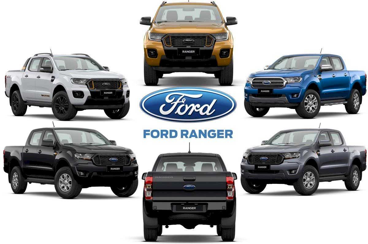 Ford Ranger 2021 các phiên bản