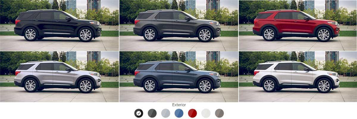 Bảng màu xe Ford Explorer 2021 ra mắt tại Thị trường Mỹ