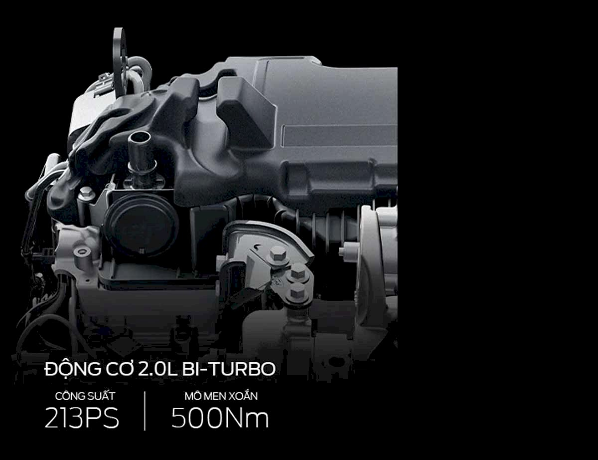 động cơ 2.0L Bi-Turbo
