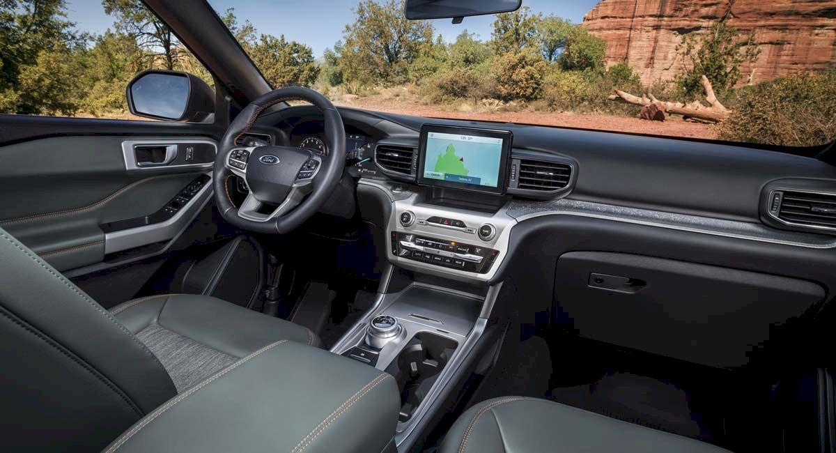 Bên trong khoang nội thất,Ford ExplorerTimberline 2021