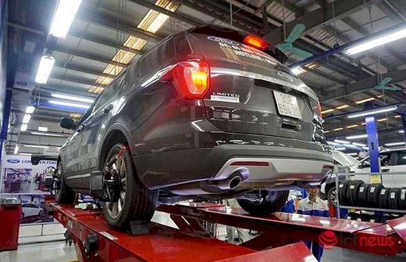 Hệ thống cân chỉnh góc đặt bánh xe thương hiệu Hunter của Hoa Kỳ.